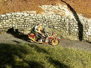 dreisitzige Böhmerland Motorrad